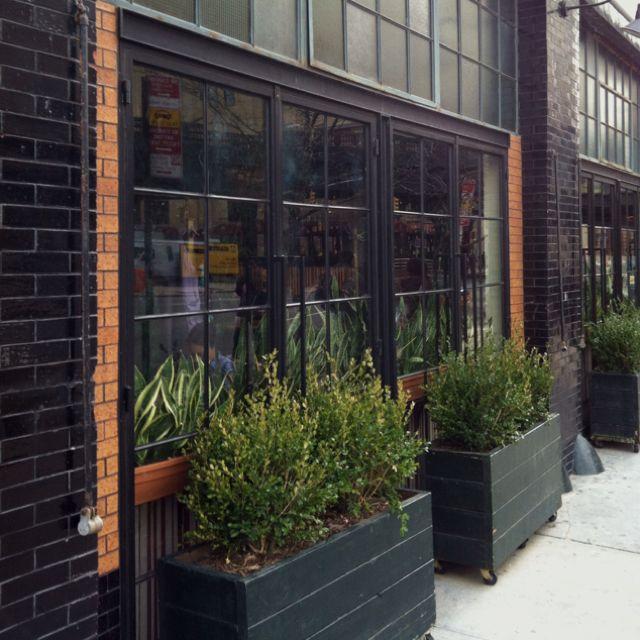 Pretty west village restaurant windows