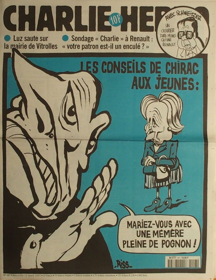 Charlie Hebdo - # 247 - 12 Mars 1997 - Couverture : Riss