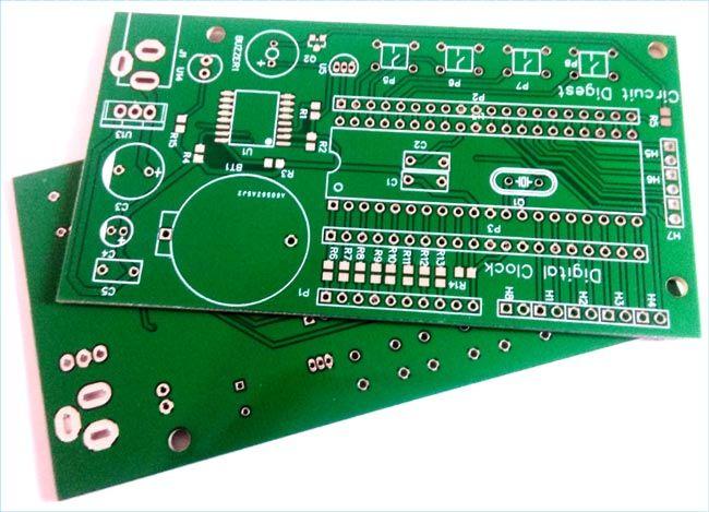 Digital Wall Clock On Pcb Using Avr Microcontroller Atmega16 And Ds3231 Rtc Wall Clock Digital Digital Wall Wall Clock Project