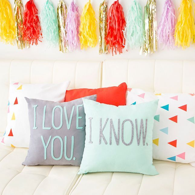 Pillow Talk Anyone? 6 Typographical Pillows That Say It All | Brit + Co