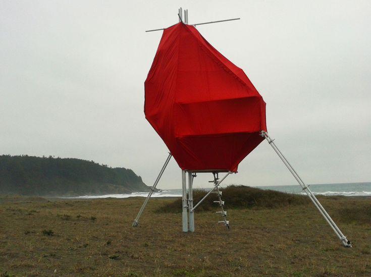Galería de Pelluhue, Chile: artefacto costero para la vida nómade del surfista - 1