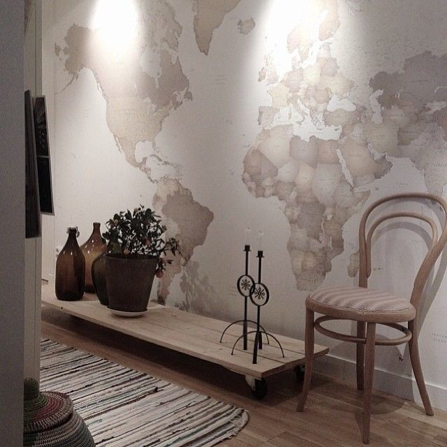 14 best hallway wall mural ideas images on pinterest murals we love this image of our wallpaper world map in the home of emeliewaag gumiabroncs Gallery