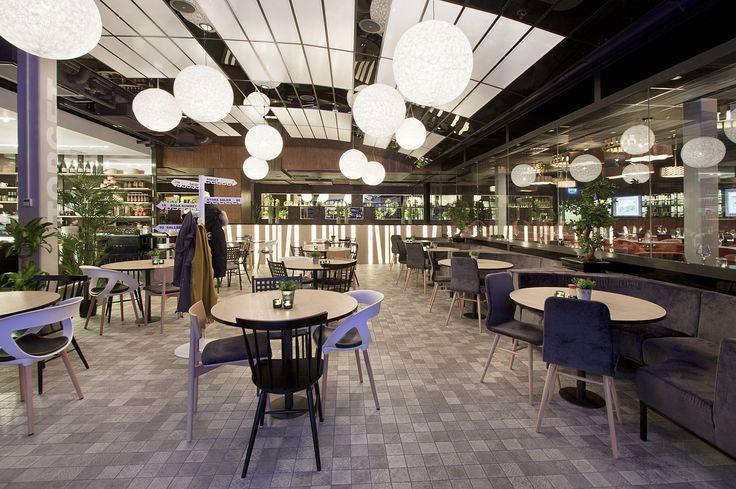 Restaurant Interior. Pong Restaurant. Outdoor seating indoor. Torget. Lindhagen. Ponggruppen.