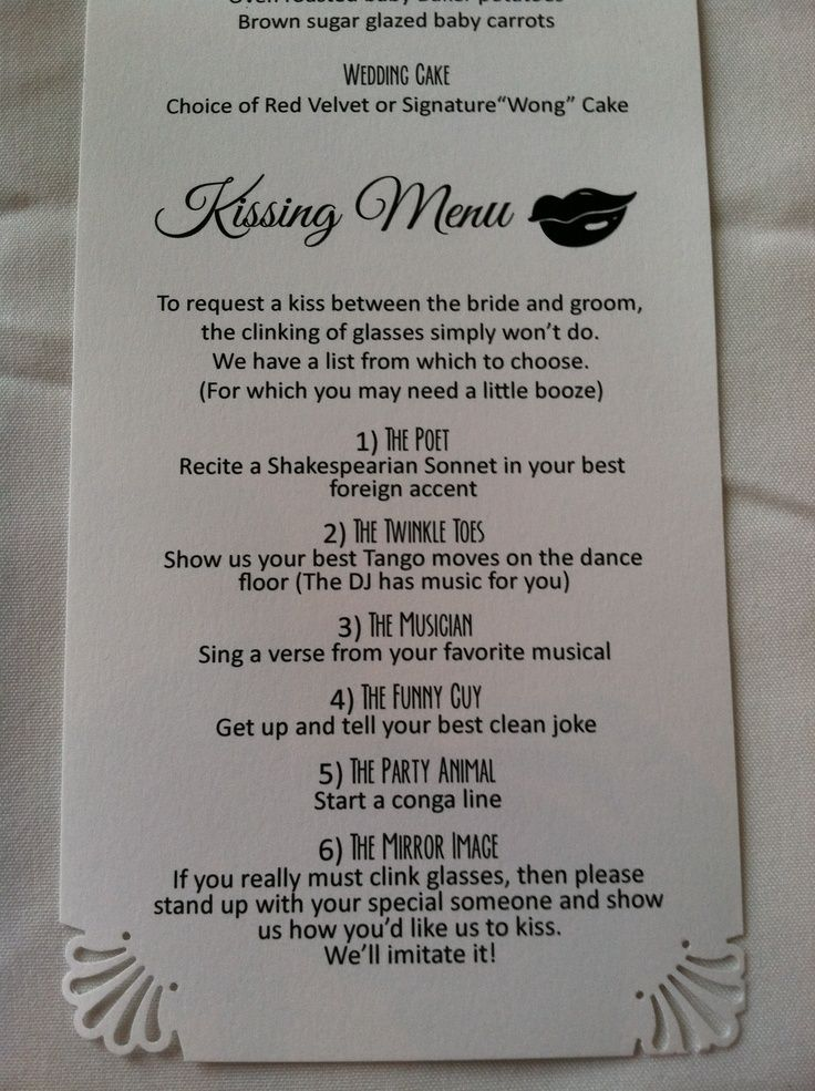https://www.google.ca/search?q=kissing menu wedding