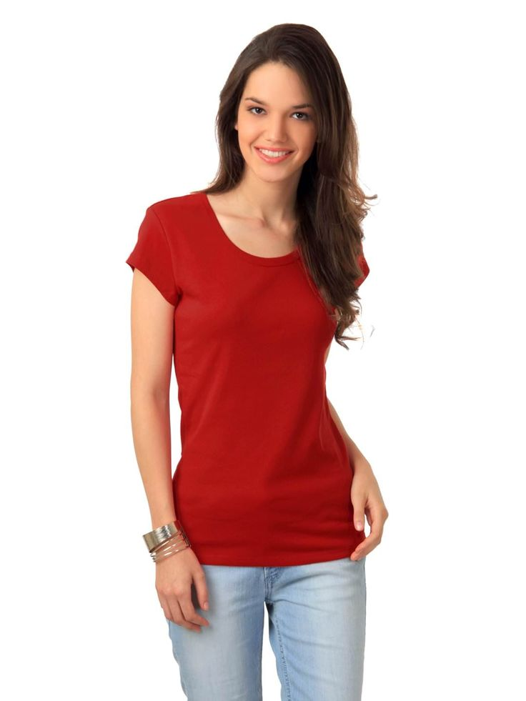 women-red-t-shirt