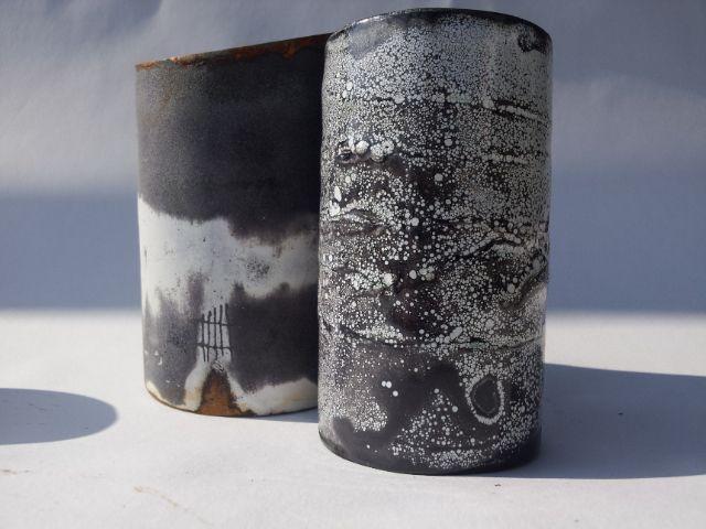 enameled steel vessels, Cheryl van Goethem