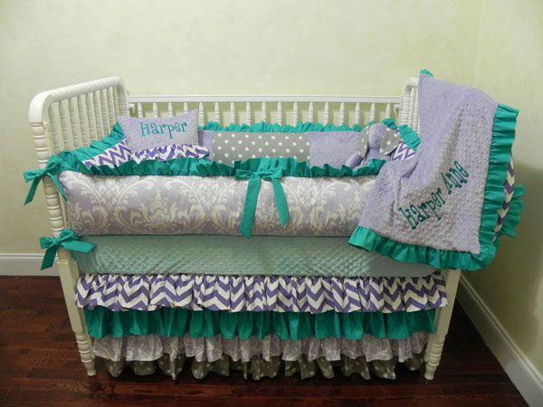 Baby Bedding Crib Set Opal New Just Designs Custom Nursery Sets