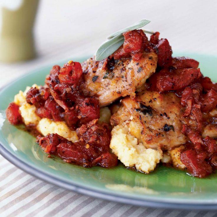 Chicken & Prosciutto Over Polenta ‹ Hello Healthy