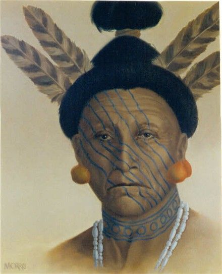 Timucuan Chief (Timucua Tribe of Florida). Florida Lost Tribes Art Project by Theodore Morris