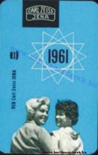 1961 - 1961_0076 - Régi magyar kártyanaptárak