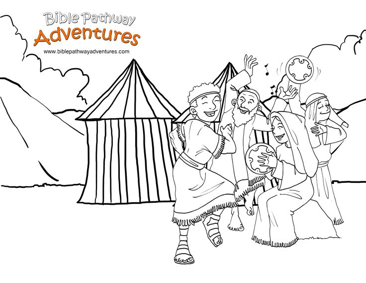 A Coloring Page For Kids From The Story Facing The Giant