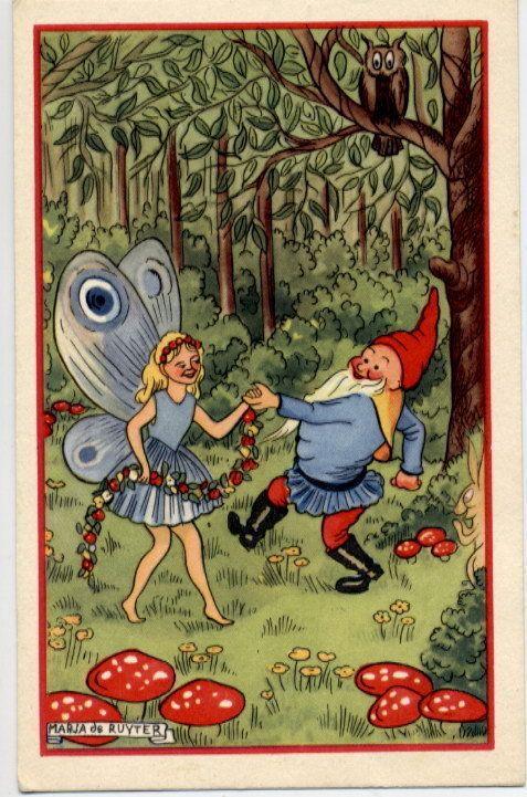 Dancing Elves Christmas Cards