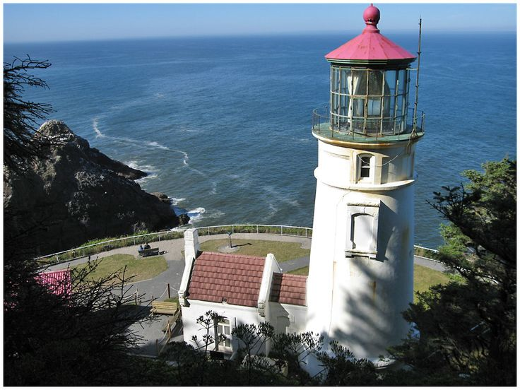 Heceta Head Lighthouse, just north of Florence Oregon. It has the most powerful light of any on the coast, shining out 22 miles into the sea!
