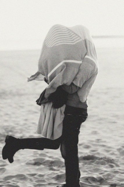 love, beach, black and white, photography