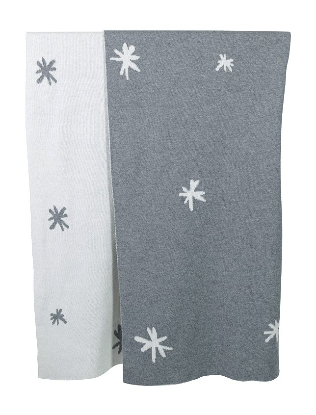 This gorgeous cotton blanket in reversible star design is a great summer weight. The playful pattern is a perfect touch to a bassinet, and compliments our new cute star print sheets. Perfect for keeping in the car or as a snuggle blanket. This will become a firm favourite.
