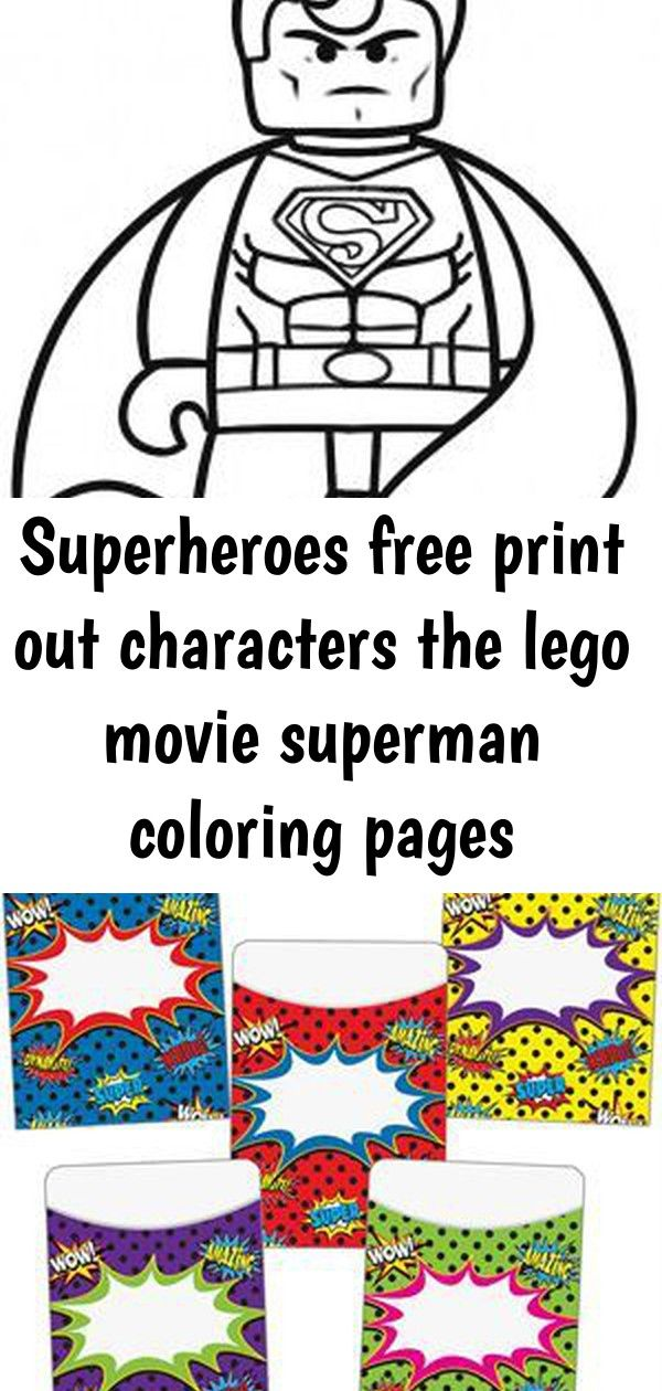 Superheroes Free Print Out Characters The Lego Movie Superman Coloring Pages Fargelegge Tegninger Ac Superman Coloring Pages Coloring Pages Free Prints