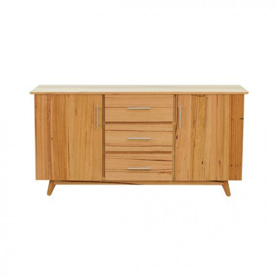 SHANNON BUFFET    Scandinavian style, with storage drawers and adjustable shelves. Photographed in Stringybark.