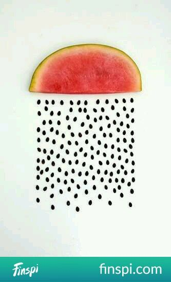 watermelon rain ... #drawing #art #watermelon