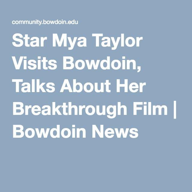 Star Mya Taylor Visits Bowdoin, Talks About Her Breakthrough Film | Bowdoin News
