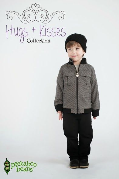 Peekaboo Beans winter Hugs + Kisses collection. | playwear for kids on the grow! | www.peekaboobeans.com