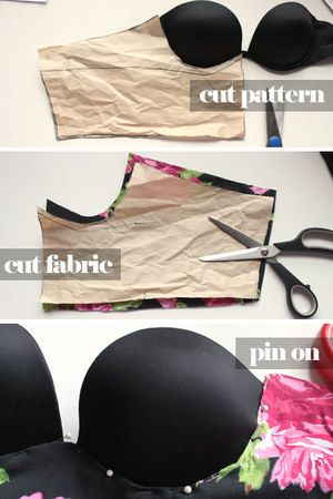 Hot-pink-bralette-top.. Would not be hard to make straps either!