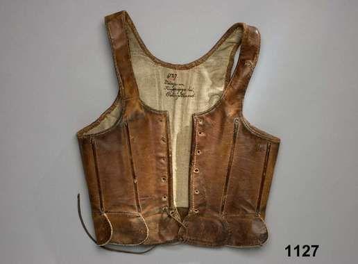 Leather bodice, Östergötland Sweden 1780 - 1820