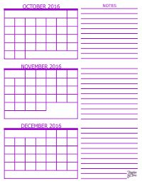 3 Month Calendar Template 2016 sept october november | Month Calendar - October…