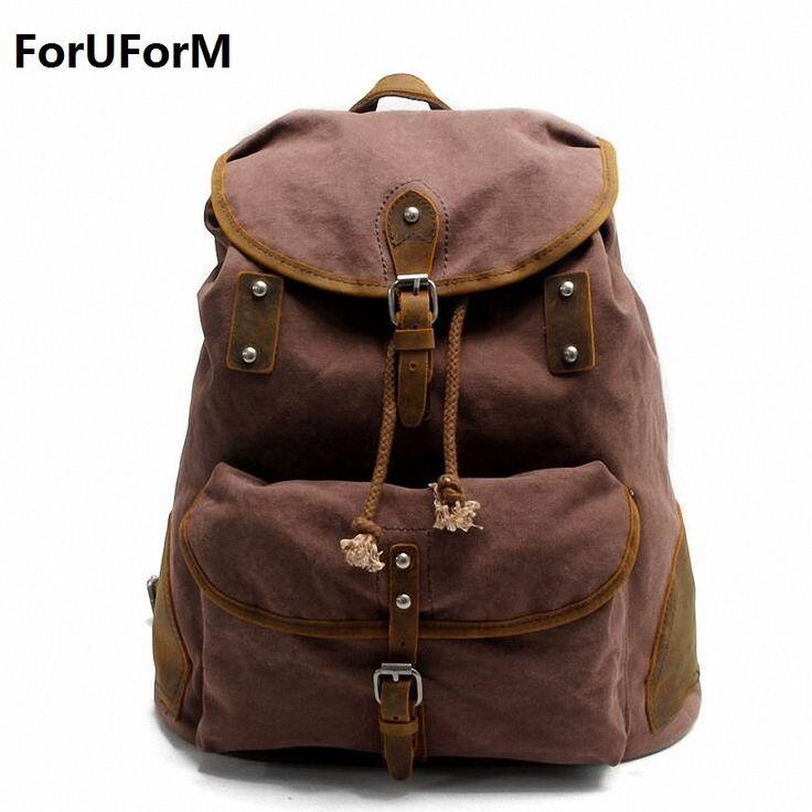 Man's Canvas Backpack Travel Schoolbag Male Backpack Men Large Capacity Rucksack Shoulder School Bag Mochila Escolar LI-1869