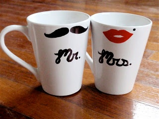 Craft Sew Love Grow: Mr. & Mrs. coffee mugs