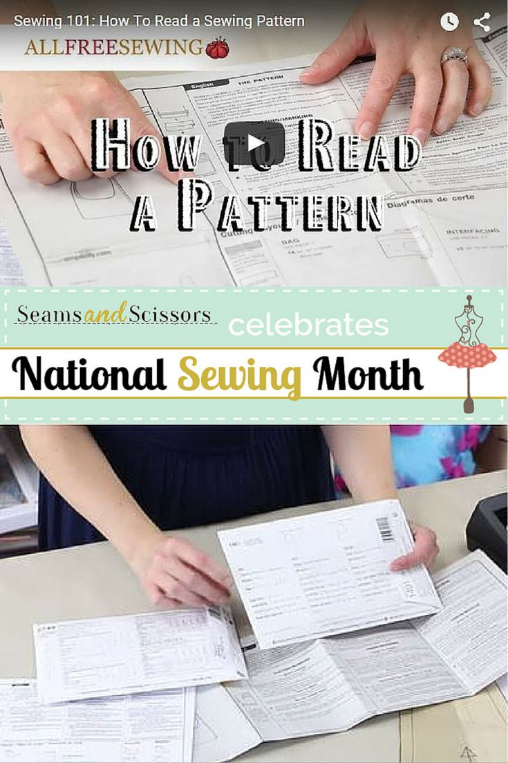 Learn how to read a sewing pattern with this #NationalSewingMonth video tutorial from @fleecefun!