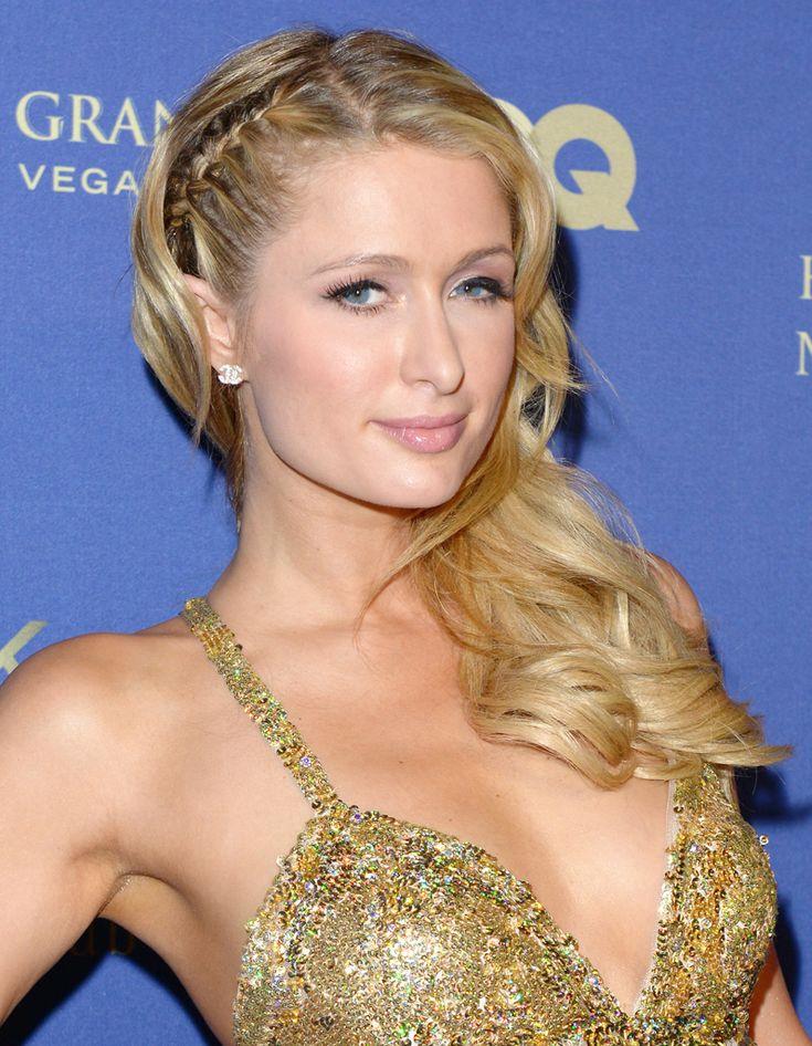 La coiffure avec tresses et boucles de Paris Hilton