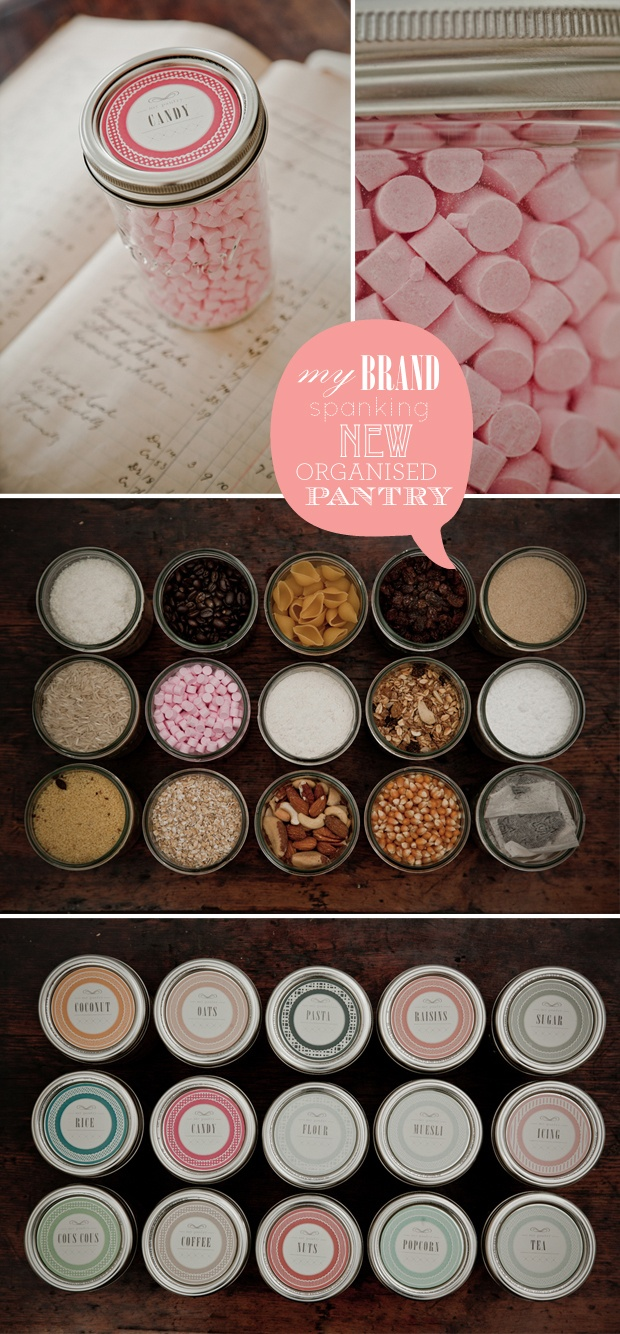Free printable mason jar labels - some blank and already filled out