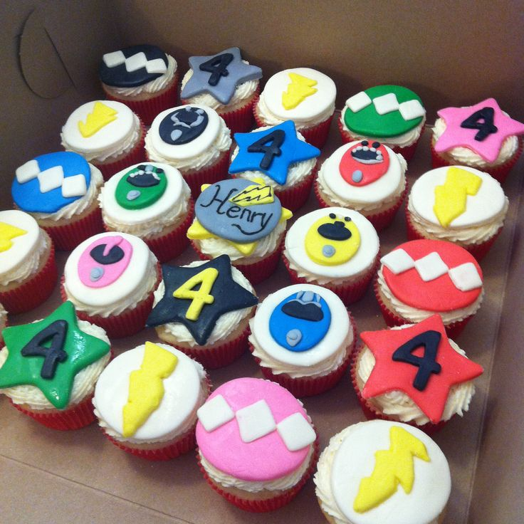 Energize the party with Power Rangers cupcakes!