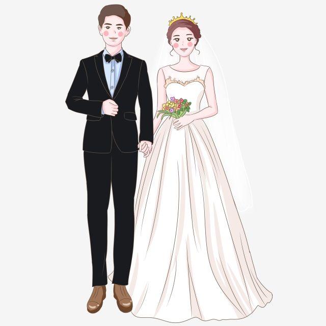 تتزوج فستان زفاف العروس والعريس توضيح العروس العريس سعيدة زوجين الكرتون الوافد الجديد Png وملف Psd للتحميل مجانا Wedding Couple Cartoon Wedding Dress Suit Bride Cartoon