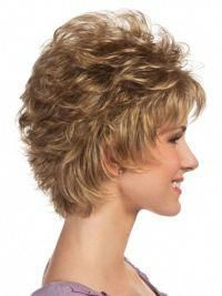 soft blonde curly cropped petite
