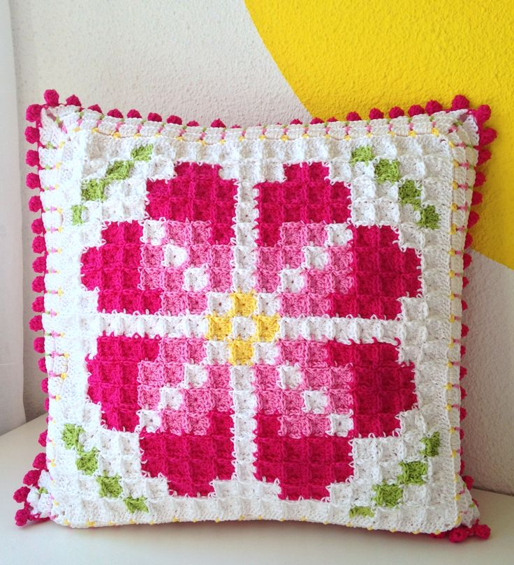 How to make pixelated rose cushion @ maRRose CCC