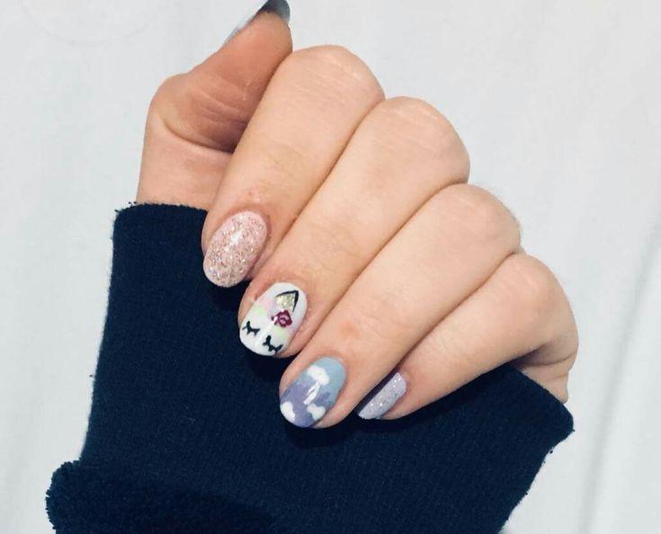 #nails #nail #nailart #naildesign #unicorn #unicornnails #magical #cute #pretty