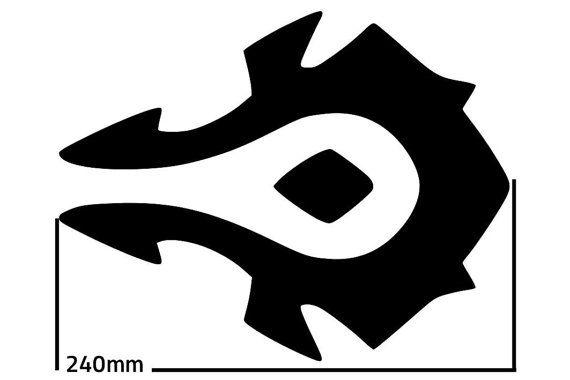 World Of Warcraft Allience Symbol Svg Cutting Pattern