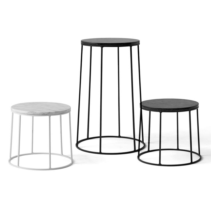 Inspired by a Japanese garden in Los Angeles, this wire and marble pedestal offers an elegant way to showcase potted plants or other objet. After a visit to an American garden that combined flower displays with Japanese trees and small fountains, Norm Architects created an inspired series of decorative wire pedestals with marble tops. Mix …