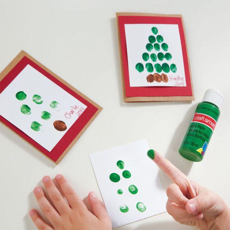 Fingerprint Holiday Handmade Card