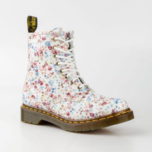 DR-DOC-MARTENS-1460-8-LOCH-STIEFEL-BOOTS-LITTLE-FLOWERS-BLUMEN-LEDER-11821407