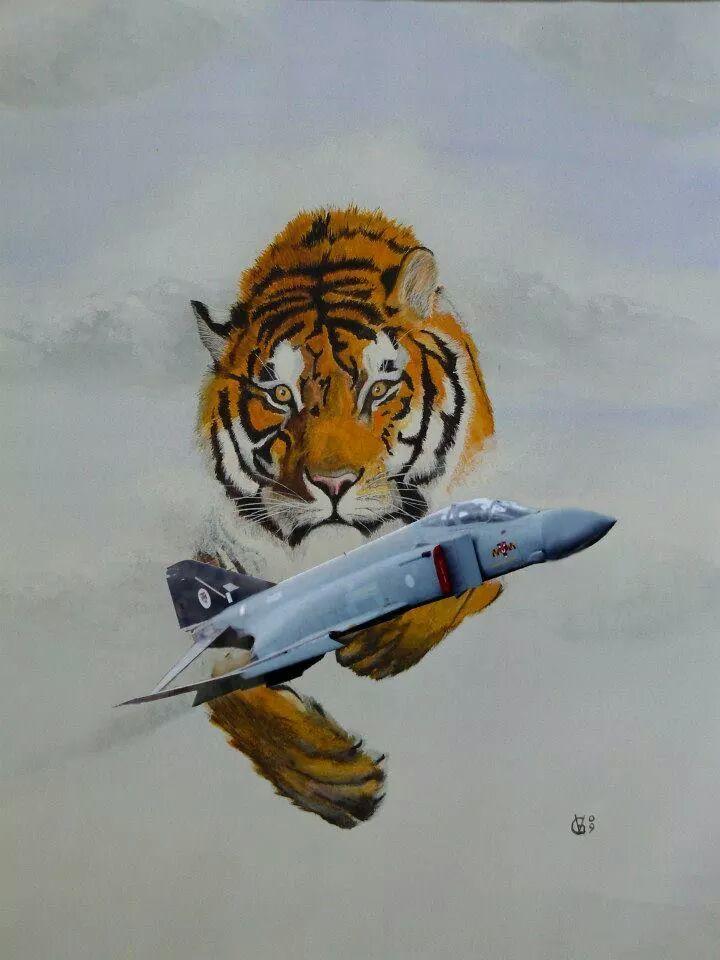 """No. 74 Squadron RAF, F-4 Phantom """"Tiger Squadron"""""""
