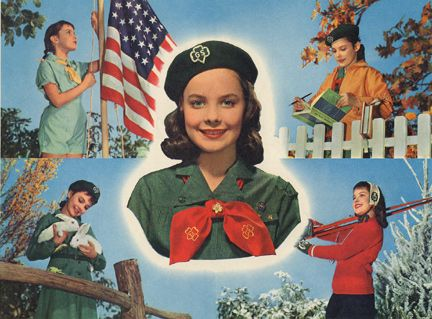 Vintage Girl Scouts postcard