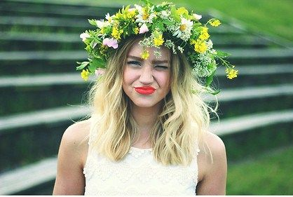 flower headpiece | Tumblr