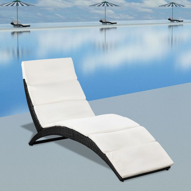 Resort Outdoor Rattan Sun Lounger (Black) - Free Shipping - Darkhorse Creations