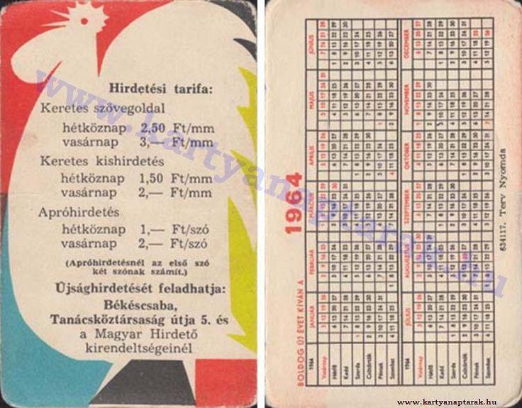 1964 - 1964_0156 - Régi magyar kártyanaptárak