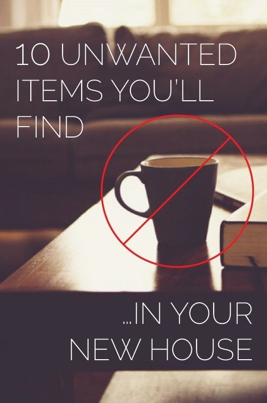 10 Unwanted Items You'll Find In Your New House | Not to panic anyone, but the day of your house move is a pretty stressful one. However much you have prepared in advance, the day will pass in a blur of panic, deadlines and excitement.