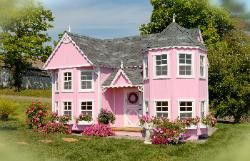 Playhouse for my girls <3: Little Girls, Dreams Houses, Sara Victorian, Pink Houses, Mansions Playhouses, Plays Houses, Victorian Mansions, Outdoor Playhouses, Little Cottages