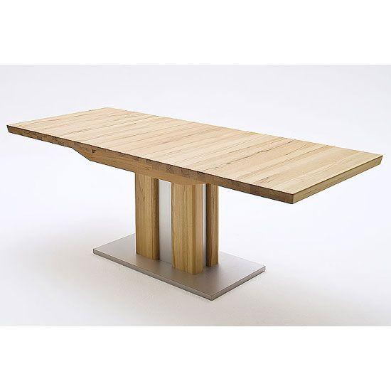 Bergamo Extendable Solid Oak Dining TableColumnar Table In Core Beech FeaturesoBergamo