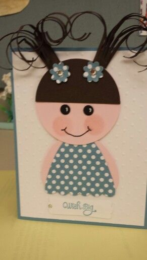 Adorable little girl card!